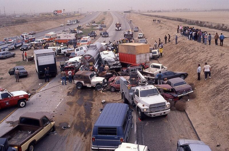 Interstate 5 Dust Storm accident
