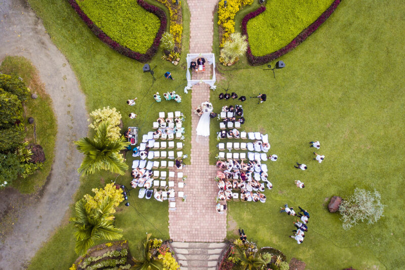 wedding image by drones